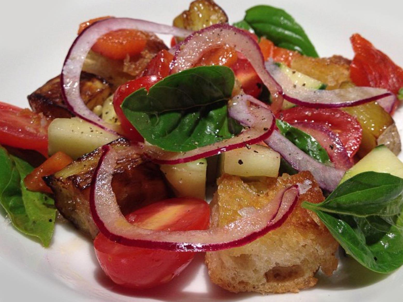 Fresh grilled vegetables.