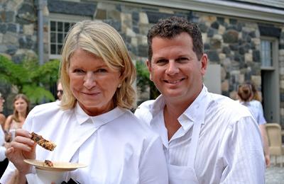 Dean Medico and Martha Stewart.