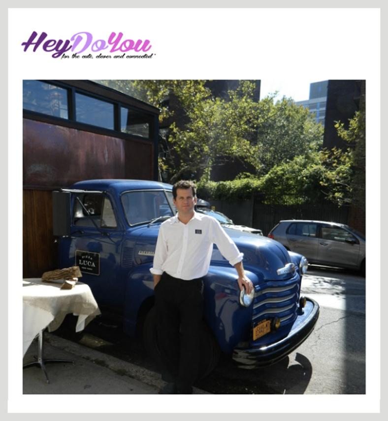 Dean Medico standing in front of his pizza truck.