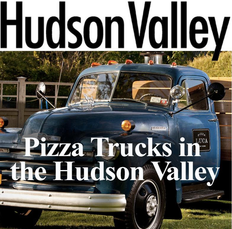 Pizza Luca truck on magazine cover.